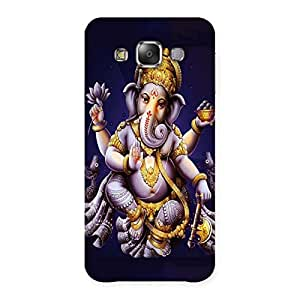 Premium Dancing Ganesha Back Case Cover for Galaxy E7