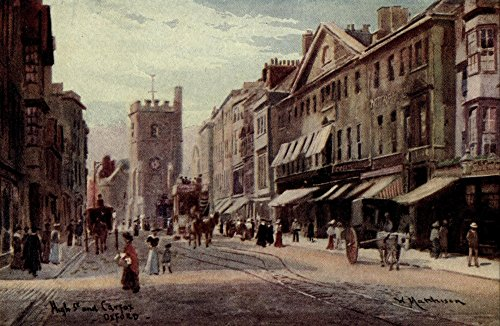 william-matthison-oxford-1905-carfax-high-street-artistica-di-stampa-4572-x-6096-cm