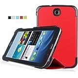 IVSO® Samsung Galaxy Note 8.0 GT-N5100/N5110 Smart Cover Leder Hülle Case Folio Tasche Cover mit Ständer & Auto Sleep und Wake UP Funktion für Samsung Galaxy Note 8.0 GT-N5100/N5110 Tablet PC (Rot)