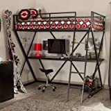 Duro Z Twin Bunk Bed Loft with Desk - Black - WB9102 - BLK