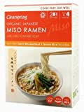Clearspring Organic Japanese Miso Ramen Noodles with Miso Ginger Soup 170g (Pack of 2)