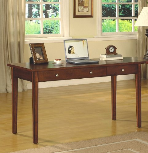 Contemporary Cherry Finish Home Office Large Writing Desk