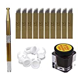 ABCsell Microblading Permanent 3D Makeup Eyebrow Tattoo Needle Pen Pigment Kit