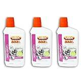 VAX AAA PET Carpet Machine Shampoo Cleaner Care Formula (3 X 500ml, Low Foam, Woolsafe)