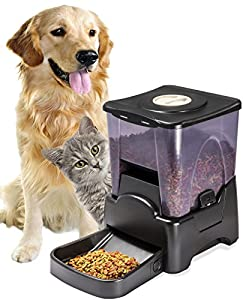 Oxgord Automatic Electronic Timer Programmable Dog Feeder for Large to Small Dogs from Day To Day Imports Inc