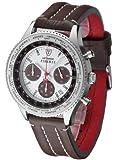 DeTomaso SL1624C-CH1 - Reloj de caballero de cuarzo, correa de piel color marrón