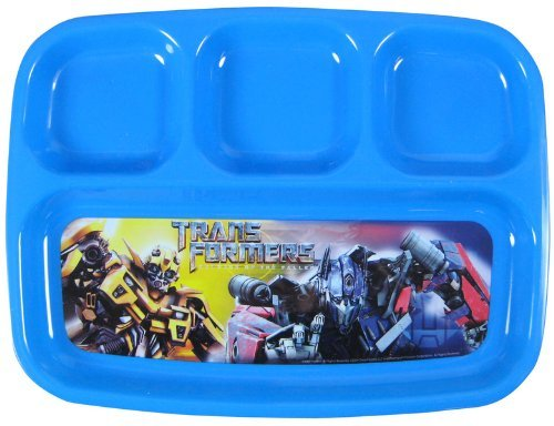 Transformers divided plastic plate- Kids Transformers dinnerware