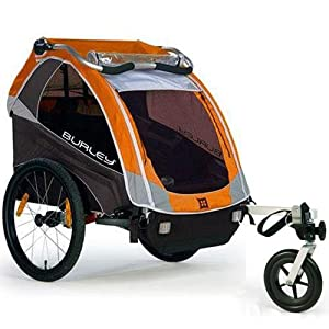 Burley D-Lite Orange Bicycle Trailer with Stroller Kit