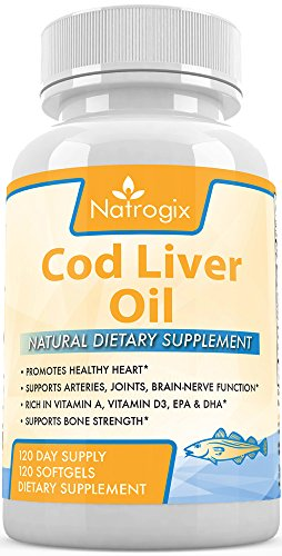 Premium Cod Liver Oil 1000mg - 120 Softgels Natural Cod Liver Oil Supplement - Rich in 240mg Omega 3 Fatty Acids, EPA, DHA, Vitamin D3, Vitamin A (Ocean Kids Omega compare prices)
