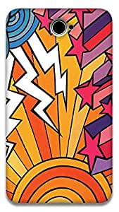The Racoon Grip Thunderstorm hard plastic printed back case / cover for Sony Xperia E4