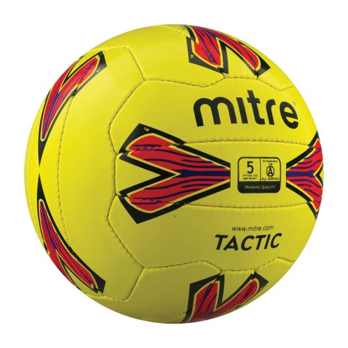 Mitre Tactic Fluo Training Football Yellow Size 5