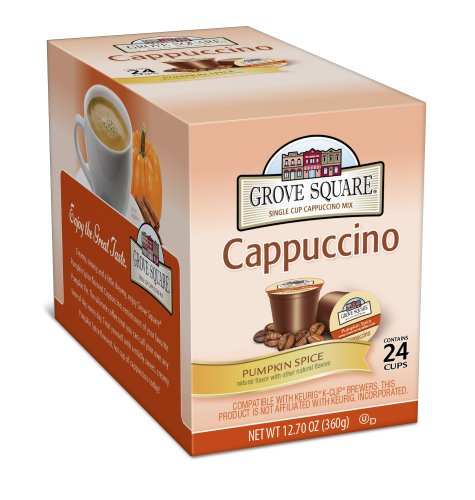 Grove Square Cappuccino, Pumpkin Spice, 24-Count Single Serve Cup For Keurig K-Cup Brewers front-65334