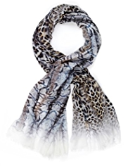 M&S Collection Lightweight Faux Snakeskin & Leopard Print Scarf