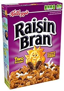 Kellogg's Raisin Bran Cereal, 20-Ounce Boxes (Pack of 3)