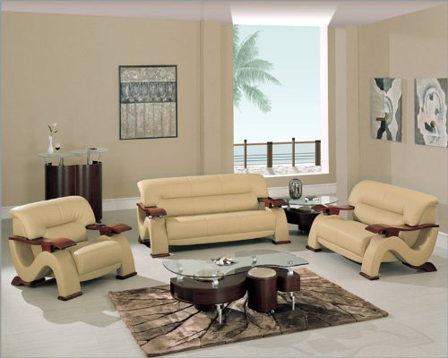 Black friday discount global furniture modern cappuccino for Cheap modern living room furniture sets