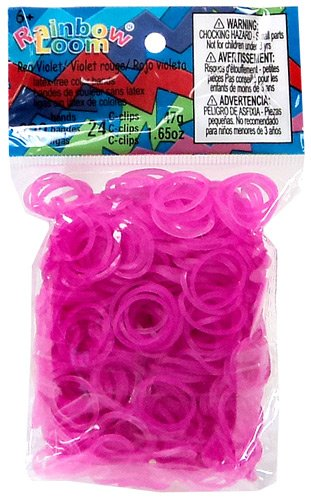 ~Brand New~ Rainbow Loom Rose Jelly Rubber Bands Refill + C-clips - 1