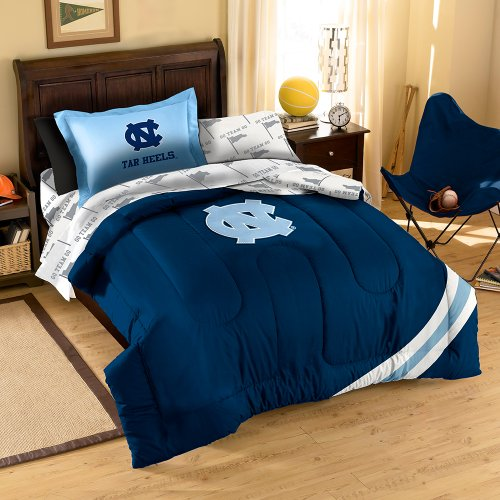 Ncaa North Carolina Tar Heels Twin Bedding Set Furniture