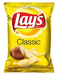 Lay's Potato Chips, Classic, 1.13 Ounce (Pack of 12)
