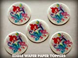 12 ARIEL LITTLE MERMAID DISNEY PRINCESS PRECUT EDIBLE CUPCAKE TOPPERS 1.5 SMALL Dozen Set - Cake, Cookie, Lollipop and Cupcake Toppers, Decorations for Children's Birthdays Party Supplies
