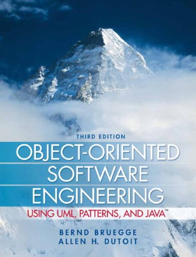 Object Oriented Software Engineering Using UML Patterns and Java 3rd Edition