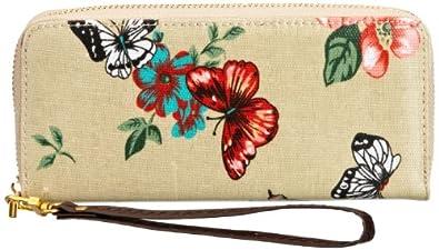 SWANKYSWANS Girls Casper Butterfly & Floral Print Wallet LW495-BEIGE Beige