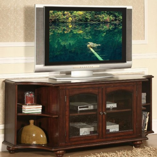 Homelegance Piedmont RTA TV Stand in Warm Brown Cherry Finish image B006OIBOTI.jpg