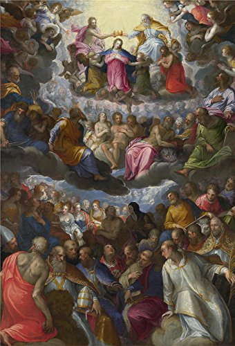 The Perfect Effect Canvas Of Oil Painting 'Johann Rottenhammer The Coronation Of The Virgin ' ,size: 20 X 29 Inch / 51 X 75 Cm ,this Imitations Art DecorativePrints On Canvas Is Fit For Basement Decoration And Home Gallery Art And Gifts