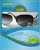 """""""NO CUTTING NEEDED"""" StickOn Bifocals +3.00 AND FREE DOMESTIC SHIPPING"""