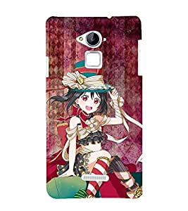 Fuson Premium Back Case Cover Rocking girl With Green Background Degined For Coolpad Note 3
