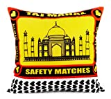 Happily Unmarried Match Box TM Cotton Cushion Cover - White