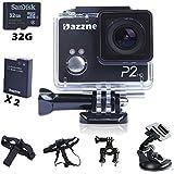 Dazzne 12 Megapixel HD 1080P Action Sport Helm Kamera Wasserdicht Camcorder