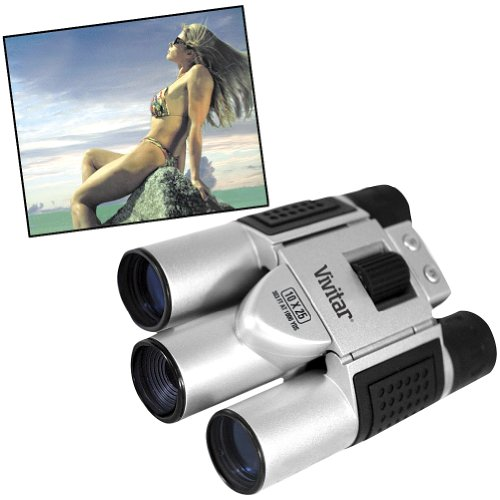 Vivitar Binoculars Built-In Digital Picture Camera - 10 X 25 Vision