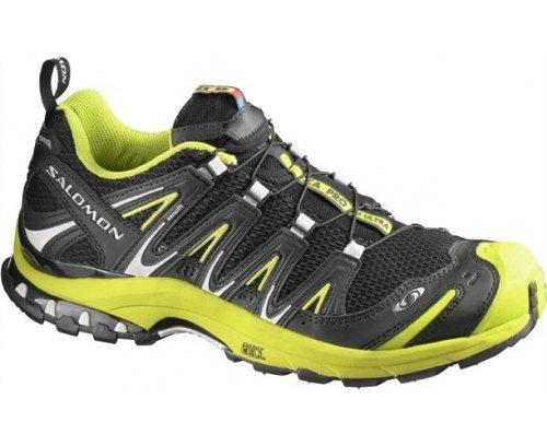 SALOMON XA Pro 3D Ultra Men's Trail Running Shoes, Black/Green, UK13