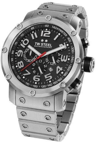 TW Steel Men's TW126 Grandeur Stainless Steel Bracelet Watch