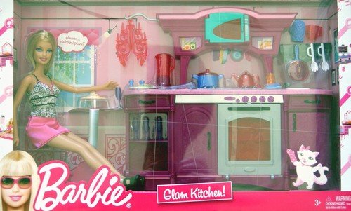 Barbie Glam Refrigerator Play Set Dolls Dollhouses