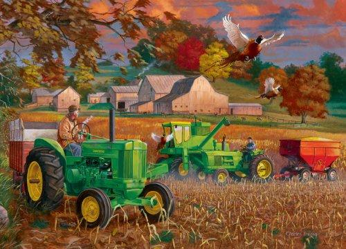 Masterpieces / John Deere Collector Tin 1000-Piece Puzzle, Bumper Crop