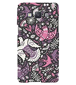 colourful birds in black background ethnic pattern 3D Hard Polycarbonate Designer Back Case Cover for Samsung Galaxy A5 (2015 Edition) :: Samsung Galaxy A5 A500F (2015)