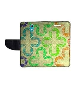 KolorEdge Printed Flip Cover For HTC Desire 526G Plus Multicolor -(50KeMLogo12100HTC526GPlus)