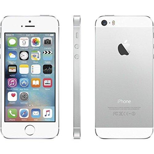Apple iPhone 5S 64GB silber wie NEU OVP Smartphone (10,2 cm (4 Zoll) IPS Retina-Touchscreen, 8 Megapixel Kamera) Handy mit allem Apple Zubehör