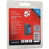 5 Star Kartusche für Tintenstrahldrucker für HP 15 C6615D oder entsprechende Modelle Kapazität 500 Seiten Schwarz
