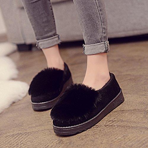 Cotton Scoop Schuhe Frauen neue schwerem Boden Schuhe plus Samt Punt Runde warme Schneeschuhe