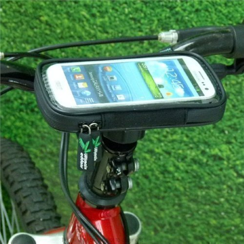 Lightweight Waterproof Bike Cycle Head Stem Phone Mount For Samsung Galaxy Siii S3 Gt-I9300, Sgh-I747, Sch-I535, Sph-L710 & Sgh-T999. front-57465