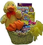 """Delight Expressions™ """"Lucky Ducky"""" Chocolate and Candies Easter Gift Basket - For Girls"""