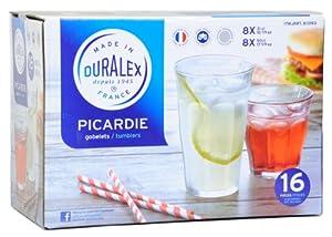 Duralex Picardie Tumblers, Set of 16 by Picardie