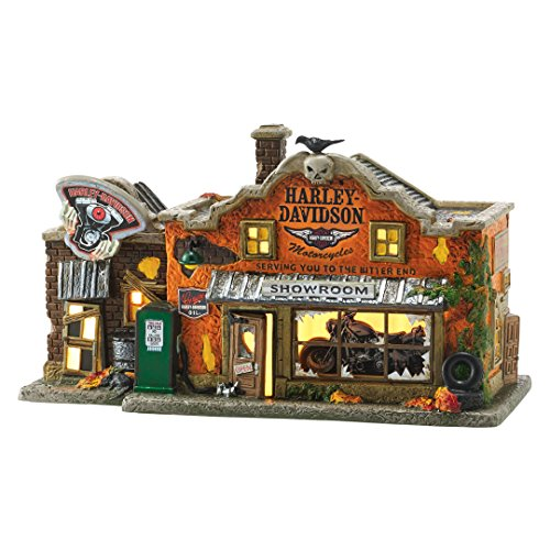 Department 56 Halloween Village Harley Davidson's Last Chance Garage 4051011 New (Last Chance Hotel compare prices)
