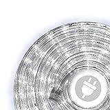 40m LED Lichterschlauch Lichtschlauch kalt-weiß - Innen- und Außenbereich -