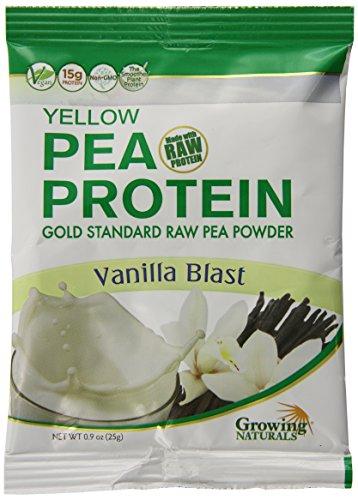 Growing Naturals Pea Protein Powder, Vanilla, 12 Count