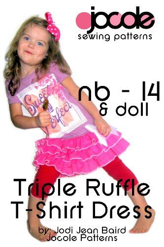 Triple Ruffle T-Shirt Dress - Sewing Pattern