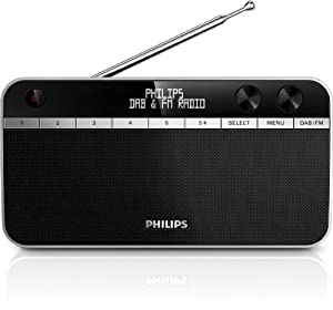 Philips AE5250/12 - Radio (pantalla LCD, DAB, radio FM), negro (importado)