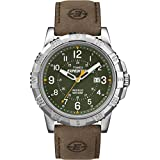 Timex Expedition Men's Quartz Watch with Green Dial Analogue Display and Brown Leather Strap T49989